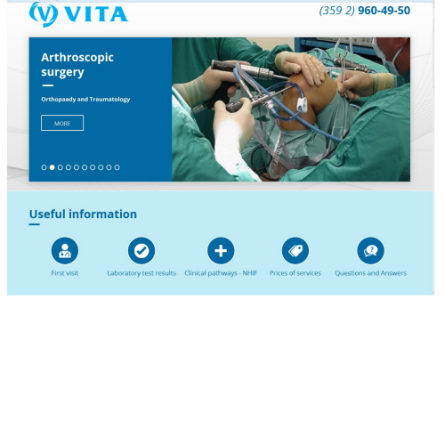 Presenting Vita's redesigned web page